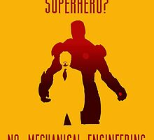 SUPERHERO NO. MECHANICAL ENGINEERING by Stylishoop