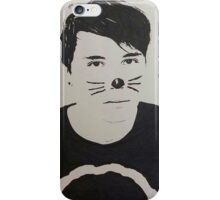 Black and White Danisnotonfire iPhone Case/Skin