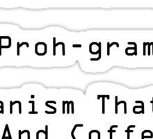 Programmer Black Sticker