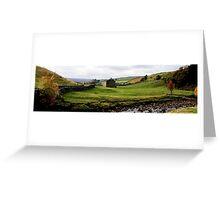 Swaledale Panorama, UK Greeting Card