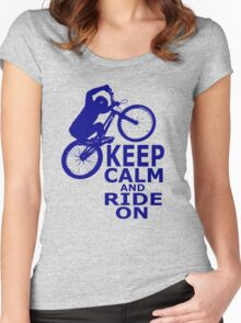 Mountain Bikes Women's Fitted Scoop T-Shirt