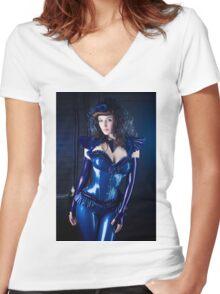 Lovely Latex Women's Fitted V-Neck T-Shirt