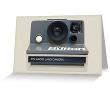 Polaroid 'The Button' Greeting Card