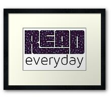 Read Everyday Framed Print