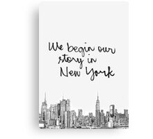 """Taylor Swift """"Welcome to New York"""" typography Canvas Print"""