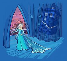 Frozen dr. who crossover by moltres