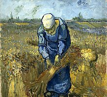 Vincent Van Gogh - Peasant Woman Binding Sheaves by lifetree