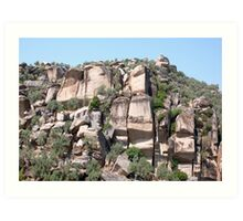 Unusual Rock Formations Near Cine Art Print
