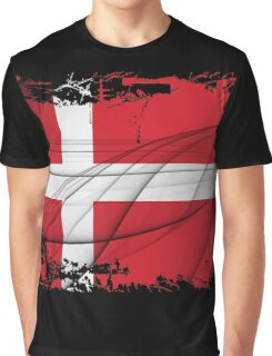 Denmark Flag Graphic T-Shirt