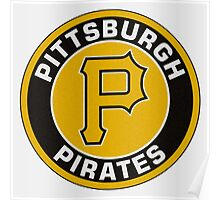 Pittsburgh Pirates Logo NL Poster