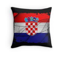 Croatia Flag Throw Pillow