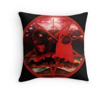 red pugtagram Throw Pillow