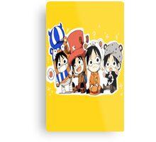 One Piece Luffy Chibi Metal Print