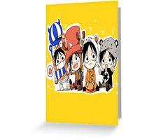 One Piece Luffy Chibi Greeting Card