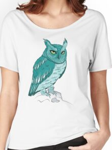 Teal Owl Women's Relaxed Fit T-Shirt