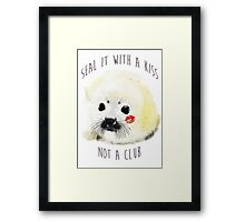 seal it with a kiss Framed Print