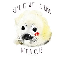 seal it with a kiss Photographic Print