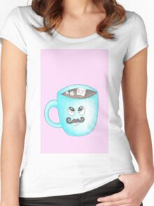 Candy Land Project - #5 Hot Chocolate with mustache Women's Fitted Scoop T-Shirt