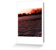 Black ice and snow Greeting Card