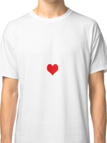 simple red heart Classic T-Shirt