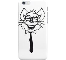 face head nerd geek hornbrille tie clever funny iPhone Case/Skin