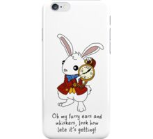 White Rabbit - Alice in Wonderland iPhone Case/Skin
