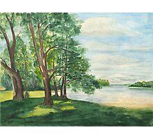 Summer Day - Luebbesee - Uckermark Photographic Print