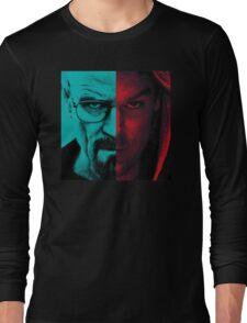 HEISENBERG VS DEXTER Walter White Breaking Bad and Dexter Face Mash Up Long Sleeve T-Shirt