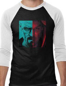 HEISENBERG VS DEXTER Walter White Breaking Bad and Dexter Face Mash Up Men's Baseball ¾ T-Shirt