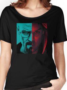 HEISENBERG VS DEXTER Walter White Breaking Bad and Dexter Face Mash Up Women's Relaxed Fit T-Shirt