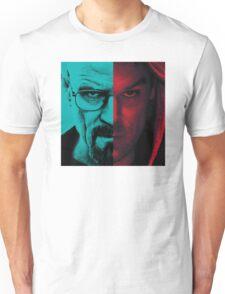 HEISENBERG VS DEXTER Walter White Breaking Bad and Dexter Face Mash Up Unisex T-Shirt