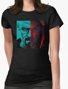 HEISENBERG VS DEXTER Walter White Breaking Bad and Dexter Face Mash Up Womens Fitted T-Shirt