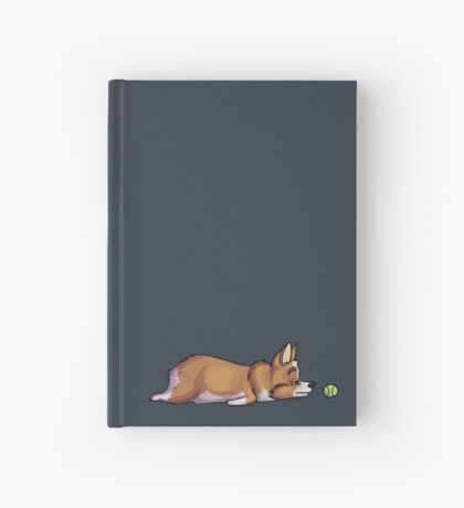 Lazy Sploot Red and White Corgi Hardcover Journal