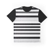 Dots and stripes B&W Graphic T-Shirt