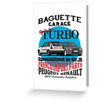 Baguette Garage Greeting Card