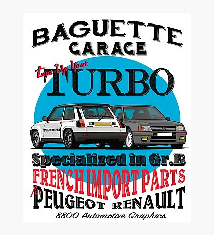Baguette Garage Photographic Print