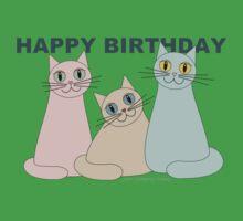 HAPPY BIRTHDAY by THREE CATS One Piece - Short Sleeve