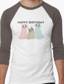 HAPPY BIRTHDAY by THREE CATS Men's Baseball ¾ T-Shirt