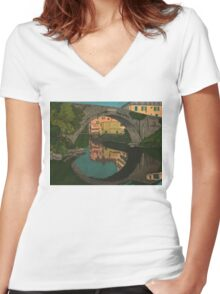 A River Women's Fitted V-Neck T-Shirt