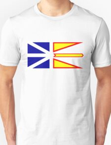 Flag of Newfoundland and Labrador, Canada. Unisex T-Shirt