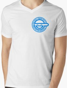 Ghost in the Shell - Laughing Man Mens V-Neck T-Shirt