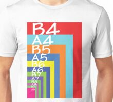 Colourful paper sizes Unisex T-Shirt