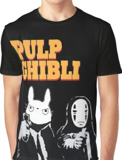 Pulp Ghibli - Studio Ghibli and Pulp Fiction Graphic T-Shirt