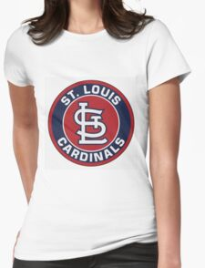 St. Louis Cardinals Logo Womens Fitted T-Shirt