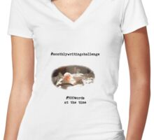 Monthly Writing Challenge (rose) Women's Fitted V-Neck T-Shirt