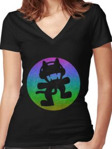 Monstercat Women's Fitted V-Neck T-Shirt