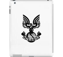 U.N.S.C.D.F. Insignia (Black Logo) iPad Case/Skin