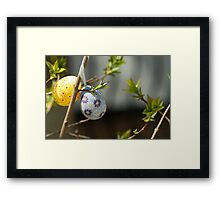 Colorful Easter egg in the tree Framed Print