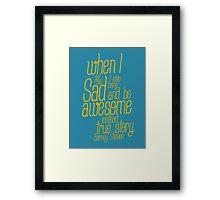 barney stinson Framed Print