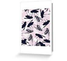 Quirky bee repeat Greeting Card